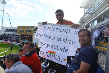The only reason we are here is to show our gratitude to Rahul Dravid